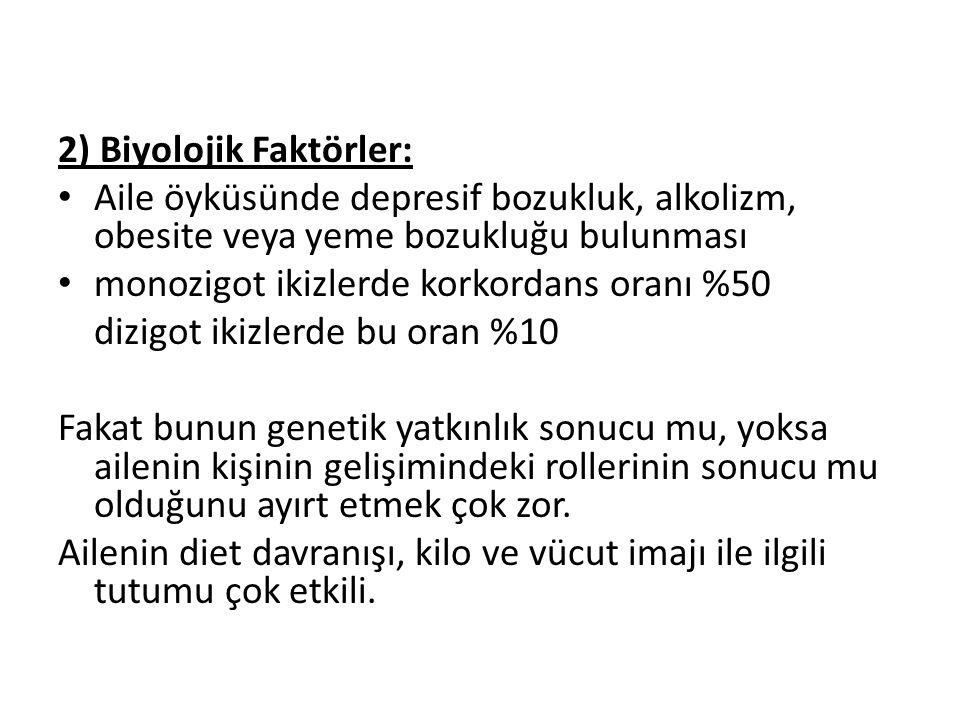 2) Biyolojik Faktörler: