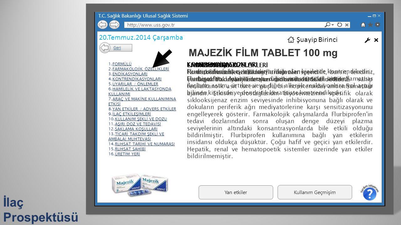 İlaç Prospektüsü MAJEZİK FİLM TABLET 100 mg 20.Temmuz.2014 Çarşamba