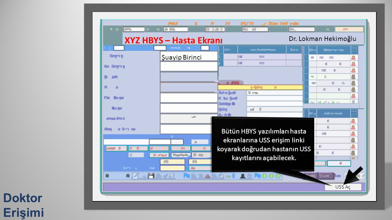 Doktor Erişimi XYZ HBYS – Hasta Ekranı Dr. Lokman Hekimoğlu
