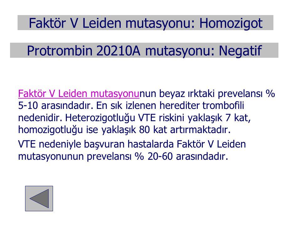 Faktör V Leiden mutasyonu: Homozigot