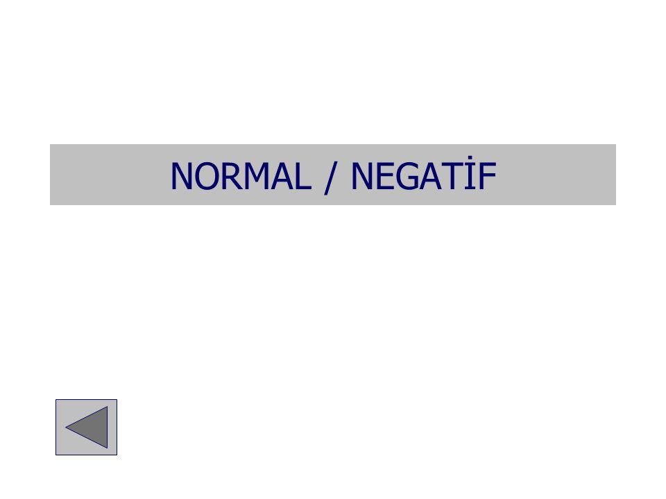 NORMAL / NEGATİF