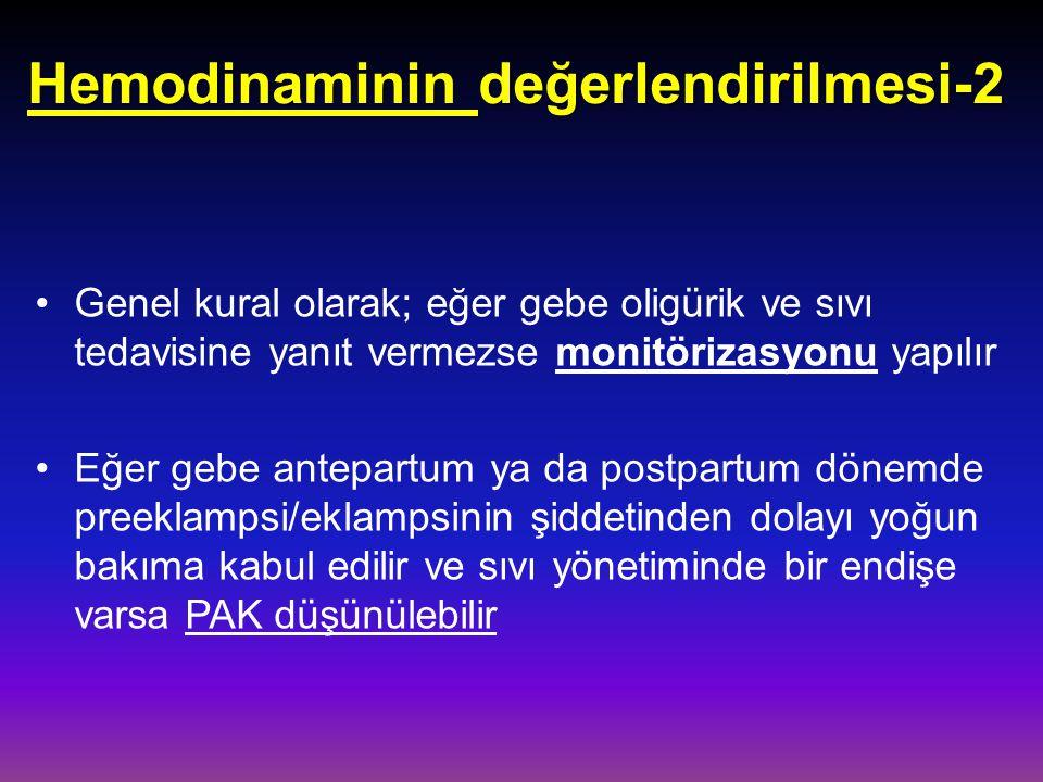 Hemodinaminin değerlendirilmesi-2