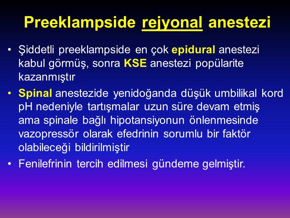 Preeklampside rejyonal anestezi