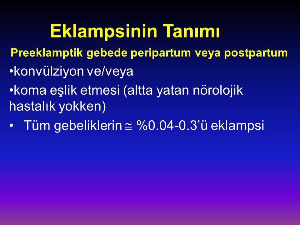 Preeklamptik gebede peripartum veya postpartum