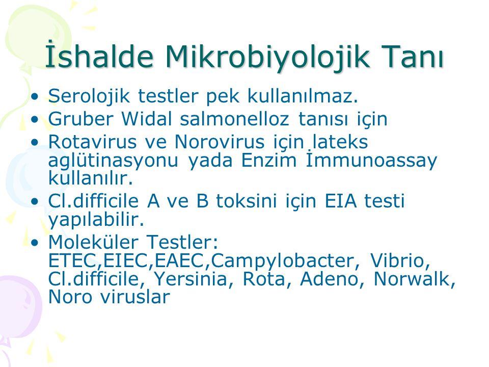 İshalde Mikrobiyolojik Tanı