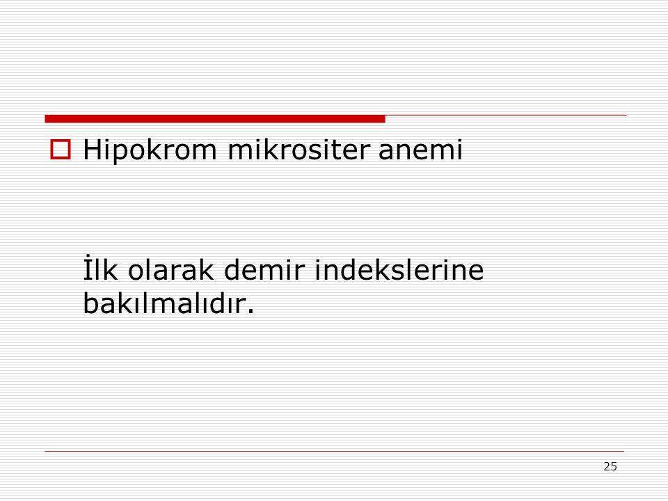 Hipokrom mikrositer anemi
