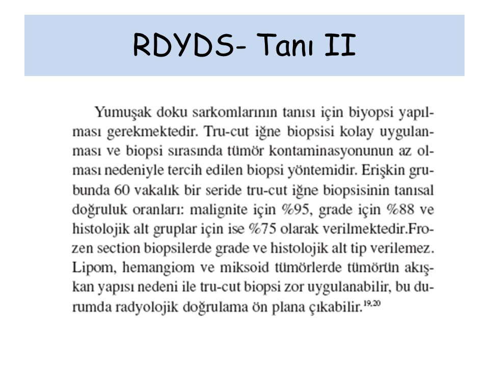 RDYDS- Tanı II