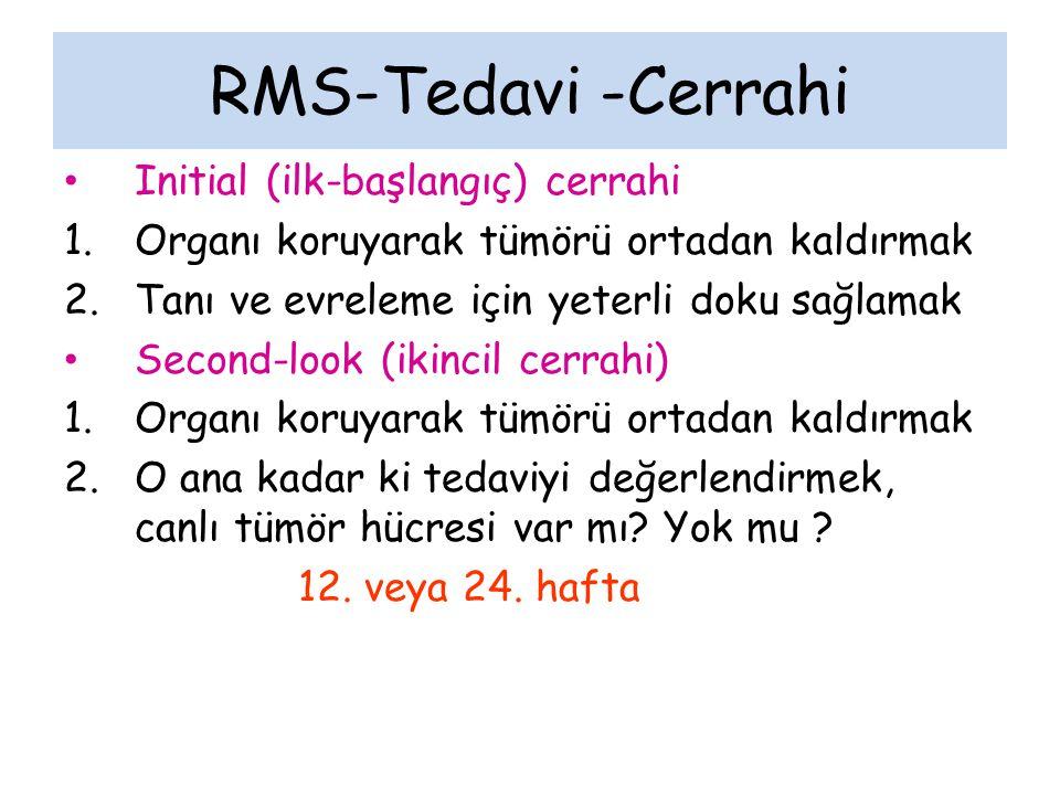 RMS-Tedavi -Cerrahi Initial (ilk-başlangıç) cerrahi