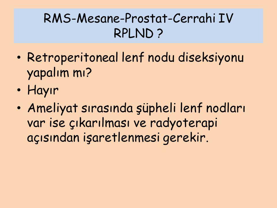 RMS-Mesane-Prostat-Cerrahi IV RPLND