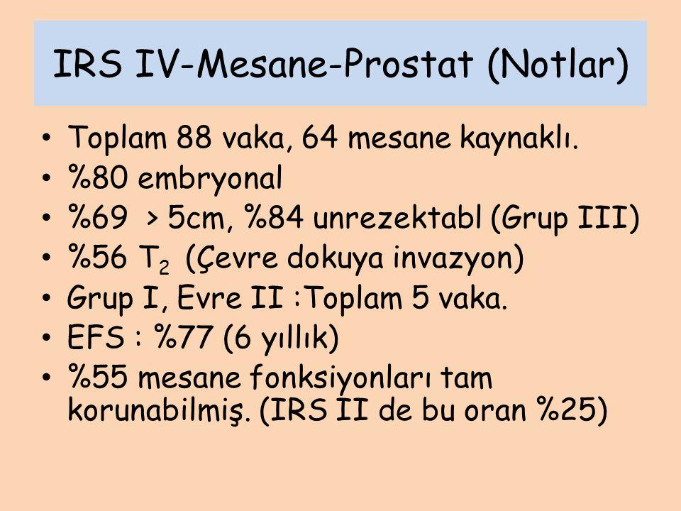 IRS IV-Mesane-Prostat (Notlar)