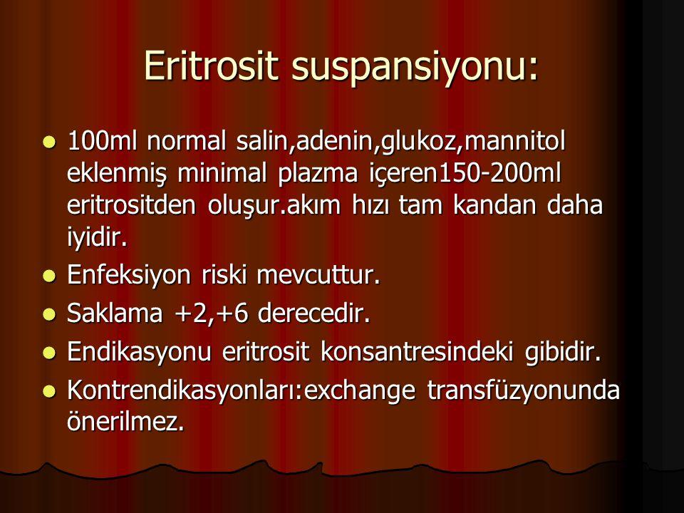 Eritrosit suspansiyonu: