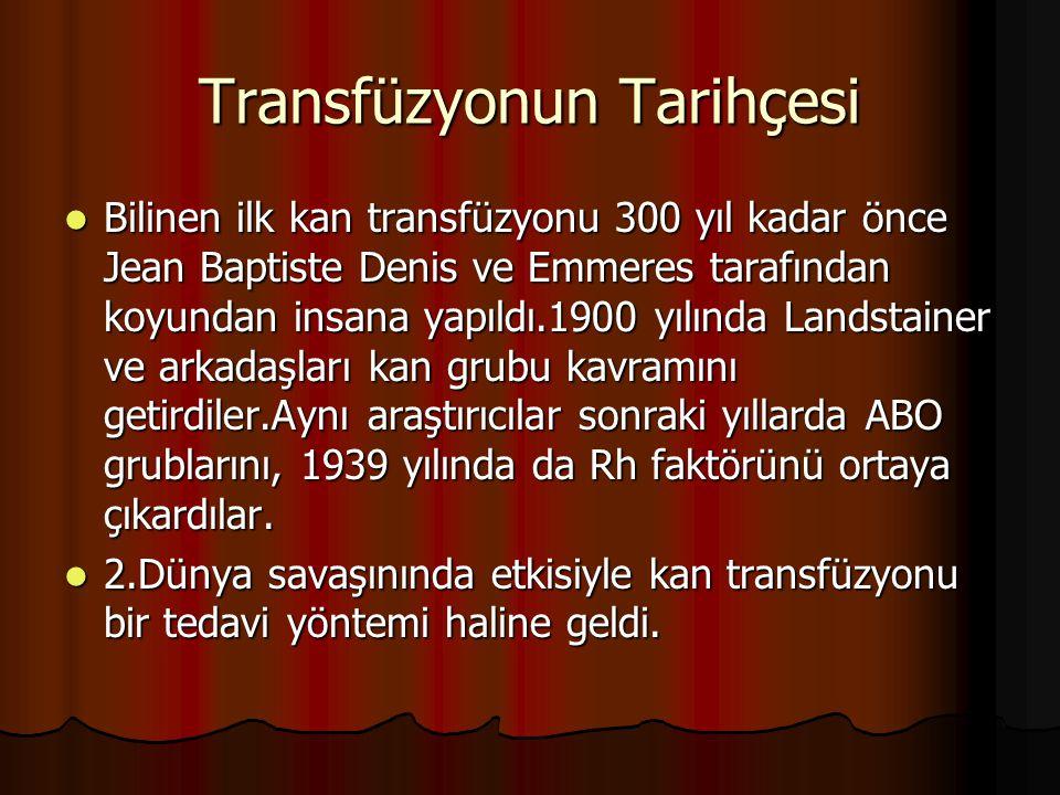 Transfüzyonun Tarihçesi