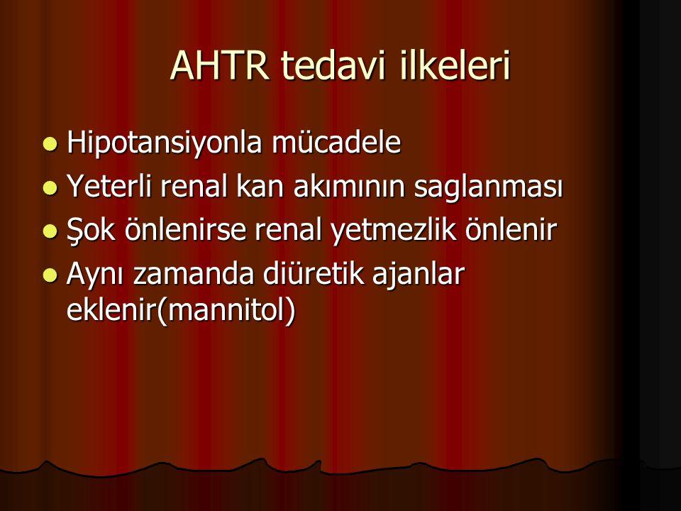 AHTR tedavi ilkeleri Hipotansiyonla mücadele