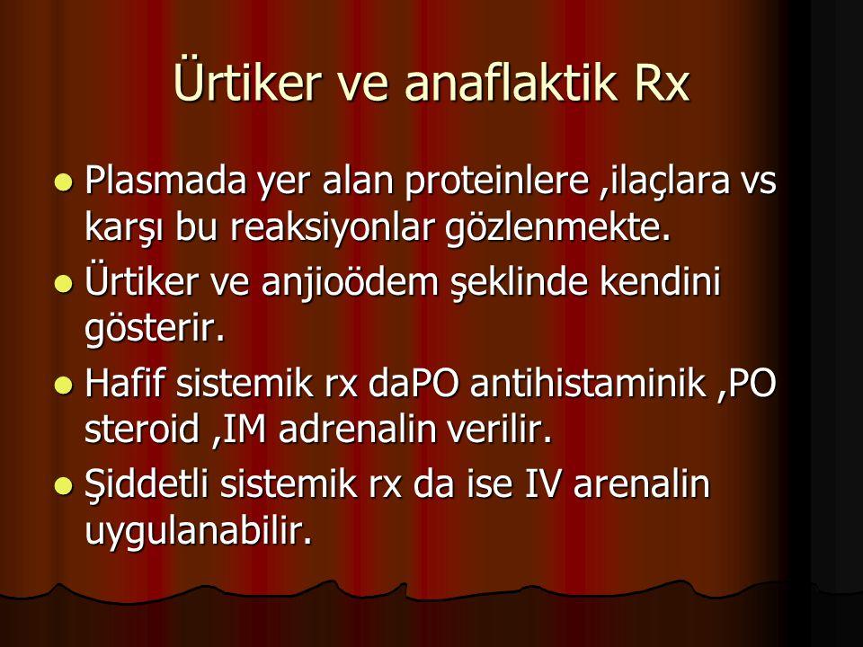 Ürtiker ve anaflaktik Rx