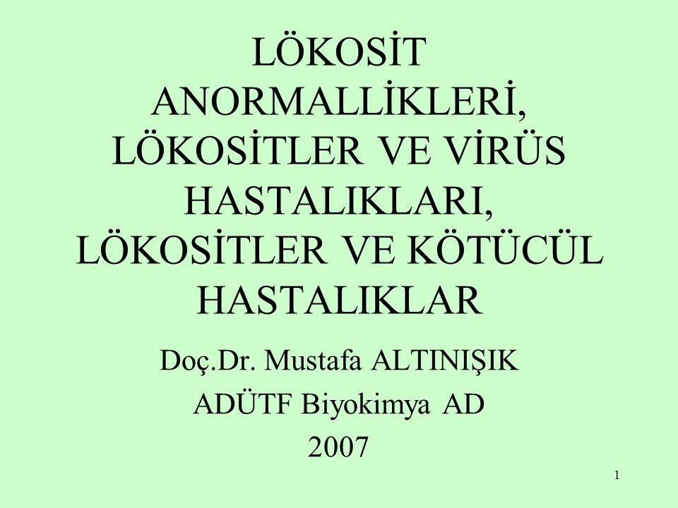 Doç.Dr. Mustafa ALTINIŞIK ADÜTF Biyokimya AD 2007