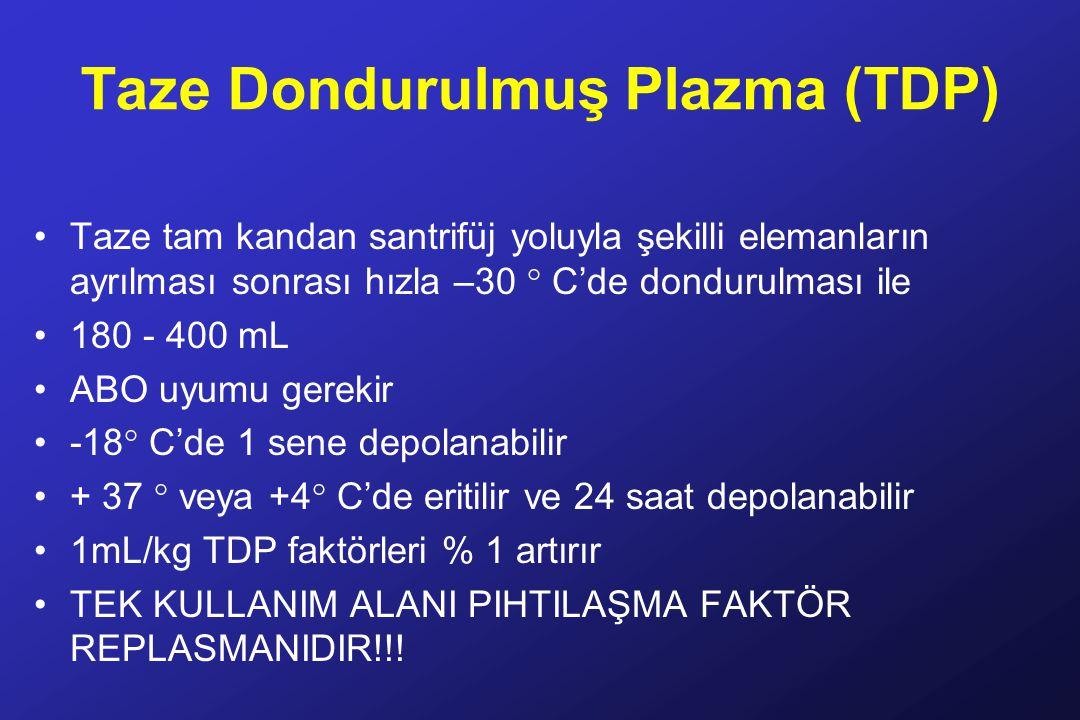 Taze Dondurulmuş Plazma (TDP)