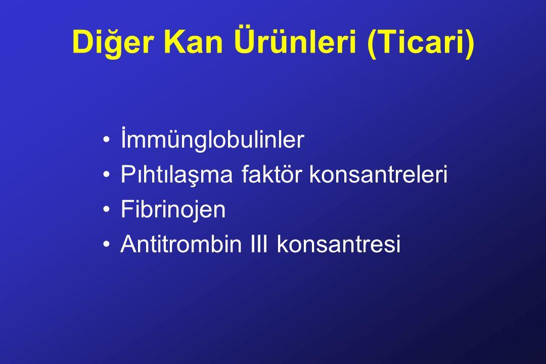 Diğer Kan Ürünleri (Ticari)