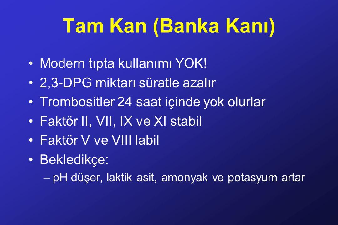 Tam Kan (Banka Kanı) Modern tıpta kullanımı YOK!