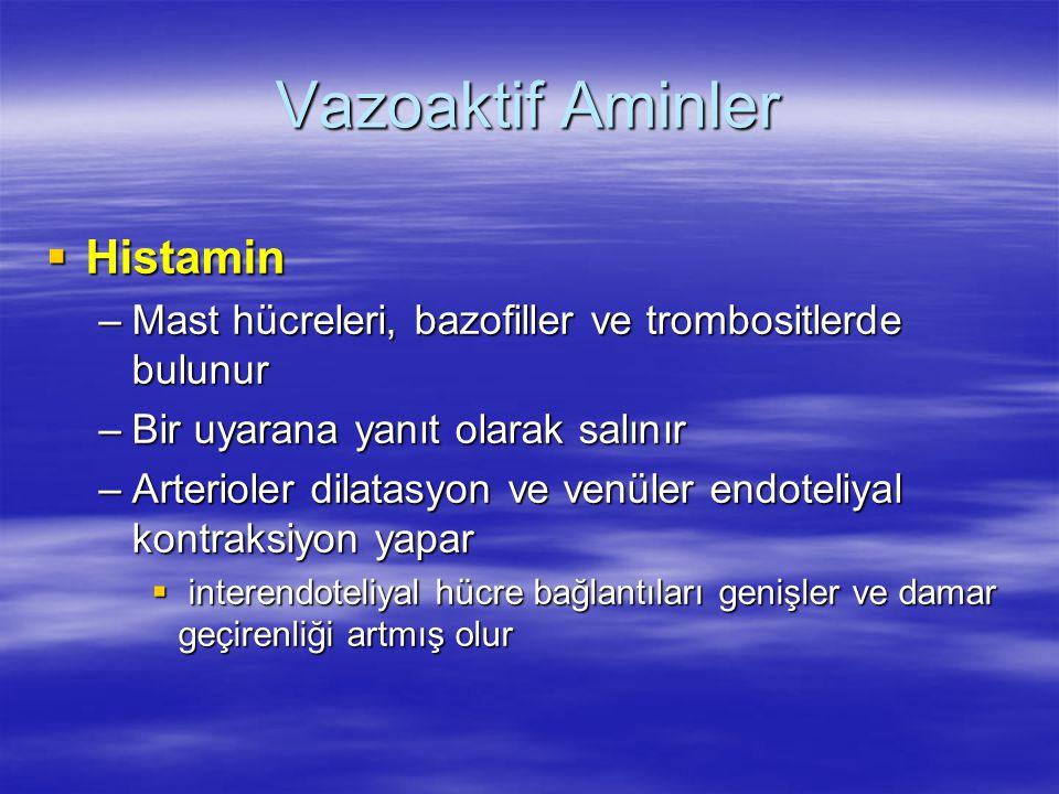 Vazoaktif Aminler Histamin