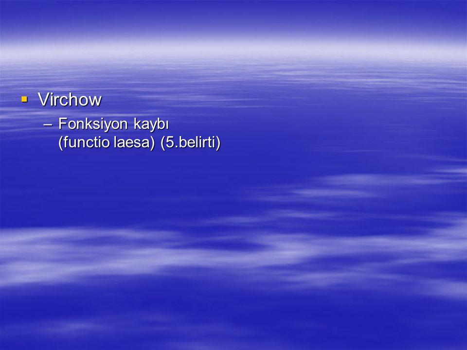 Virchow Fonksiyon kaybı (functio laesa) (5.belirti)