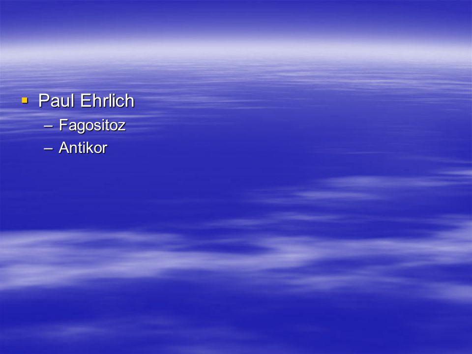 Paul Ehrlich Fagositoz Antikor