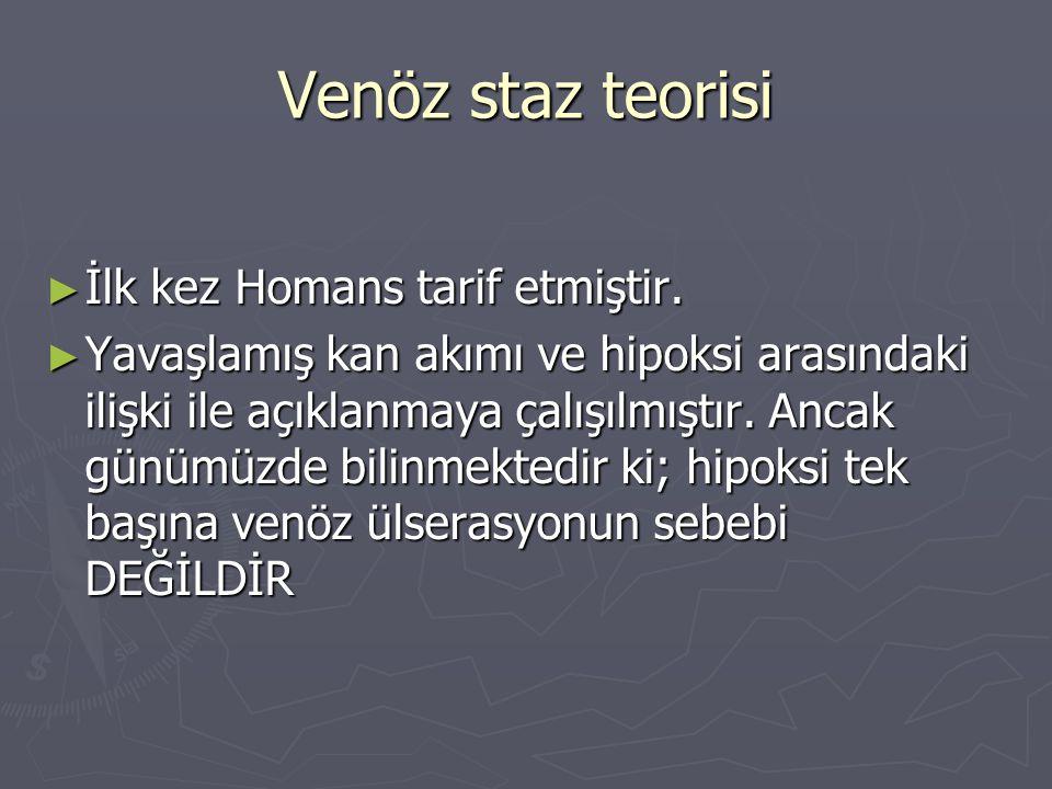Venöz staz teorisi İlk kez Homans tarif etmiştir.