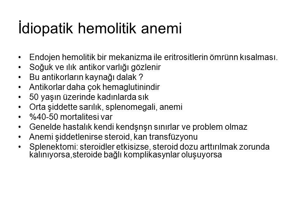 İdiopatik hemolitik anemi