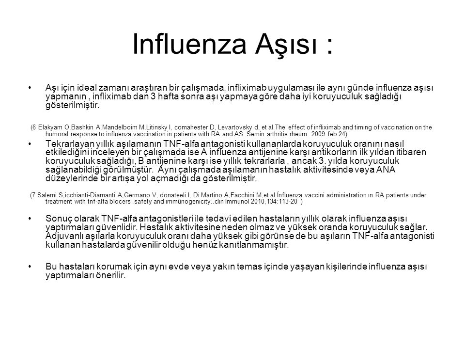 Influenza Aşısı :