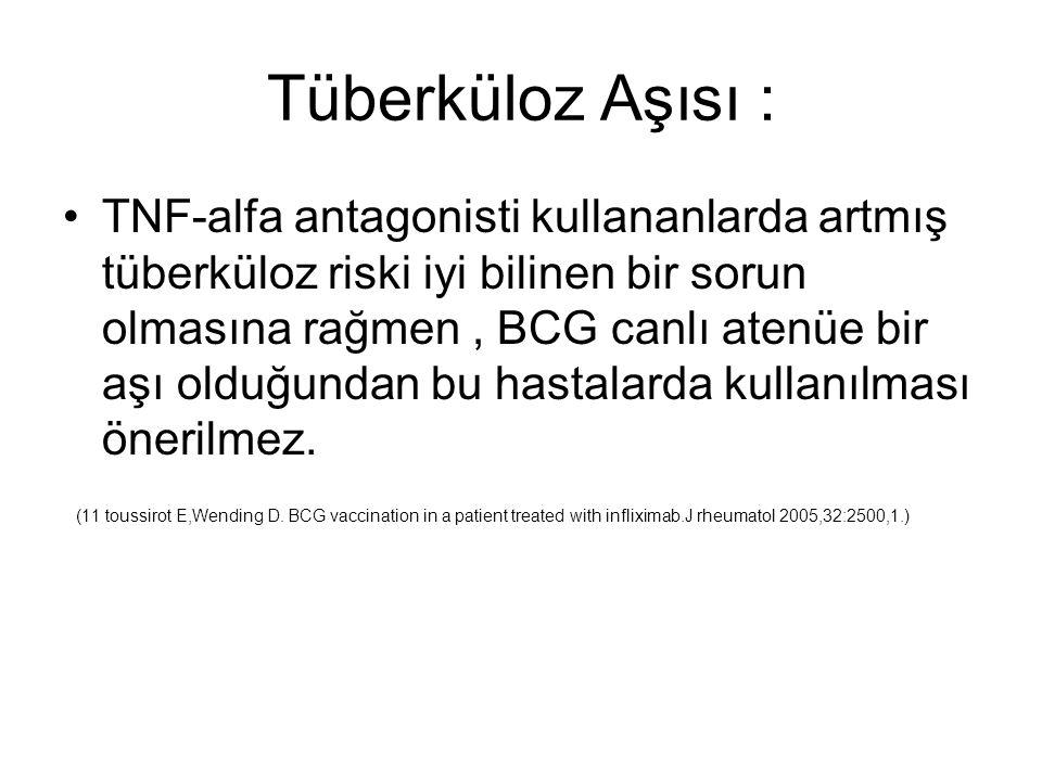 Tüberküloz Aşısı :