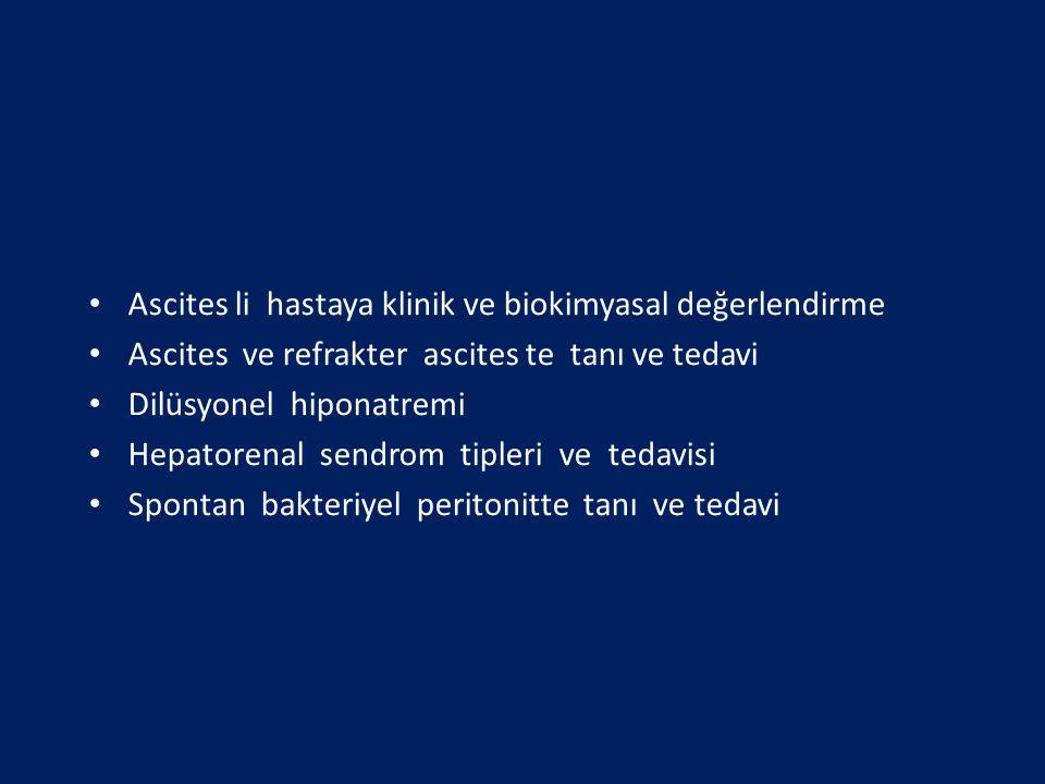 Ascites li hastaya klinik ve biokimyasal değerlendirme