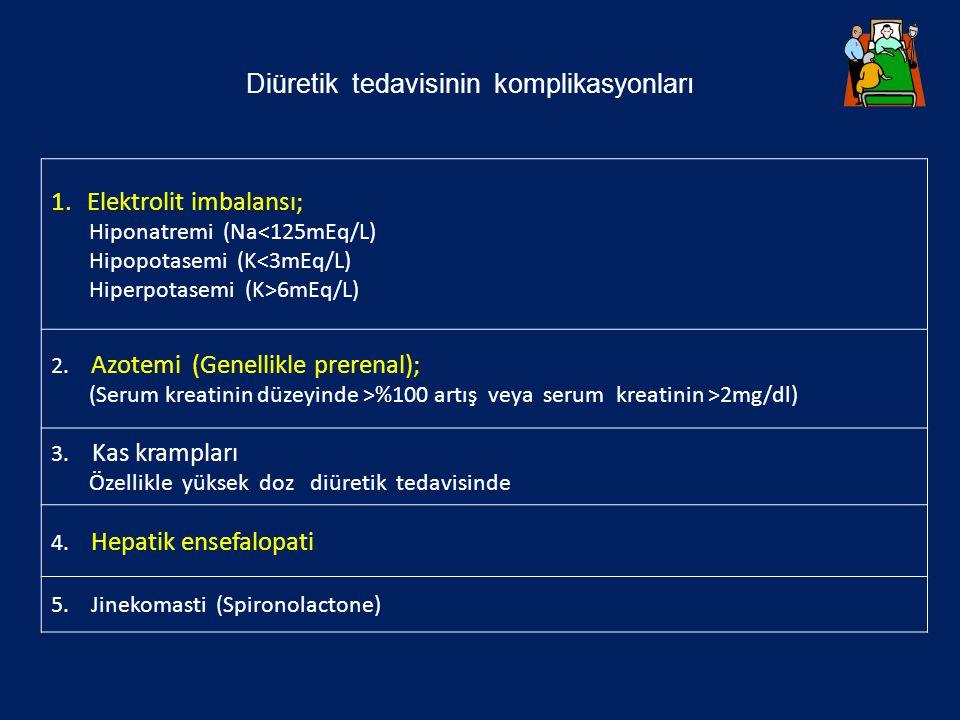 Diüretik tedavisinin komplikasyonları