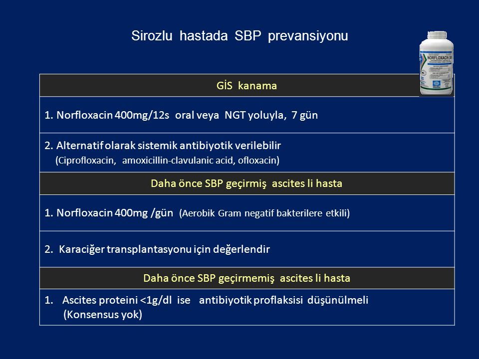 Sirozlu hastada SBP prevansiyonu