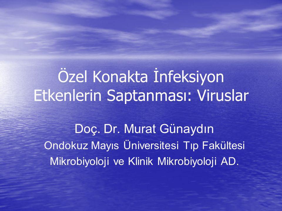 Özel Konakta İnfeksiyon Etkenlerin Saptanması: Viruslar