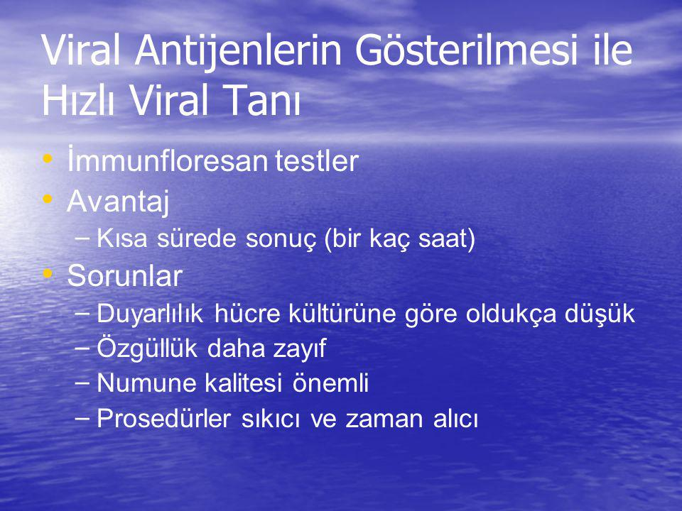 Viral Antijenlerin Gösterilmesi ile Hızlı Viral Tanı