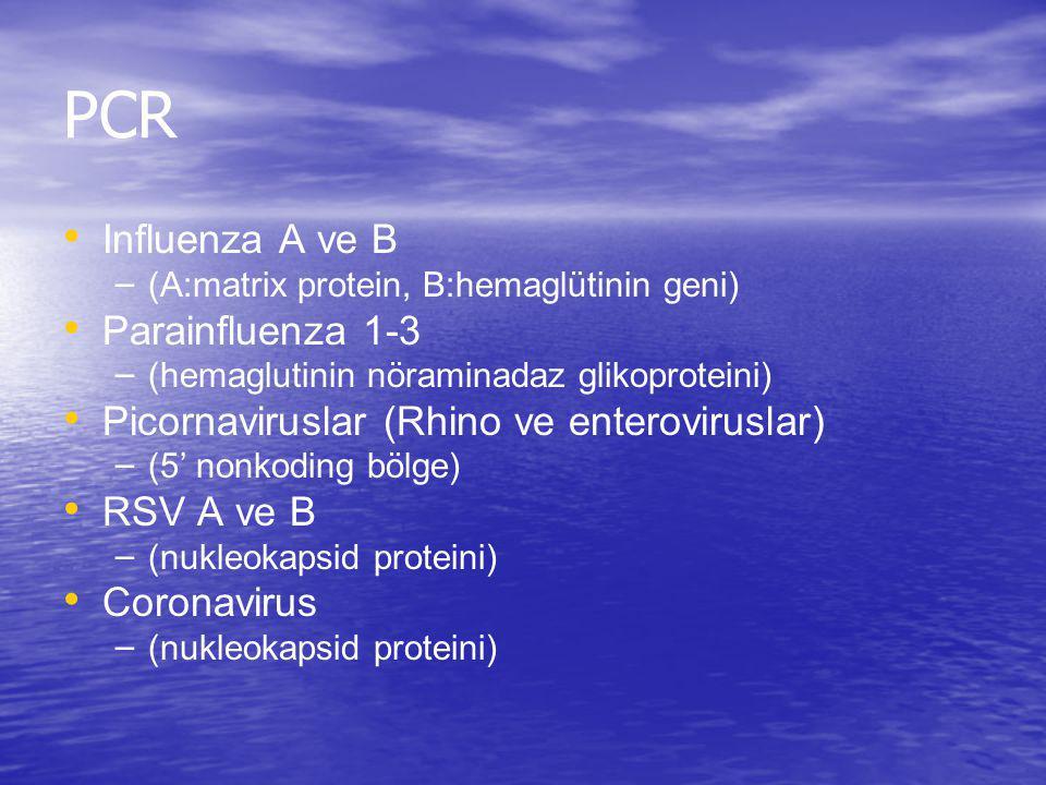 PCR Influenza A ve B Parainfluenza 1-3