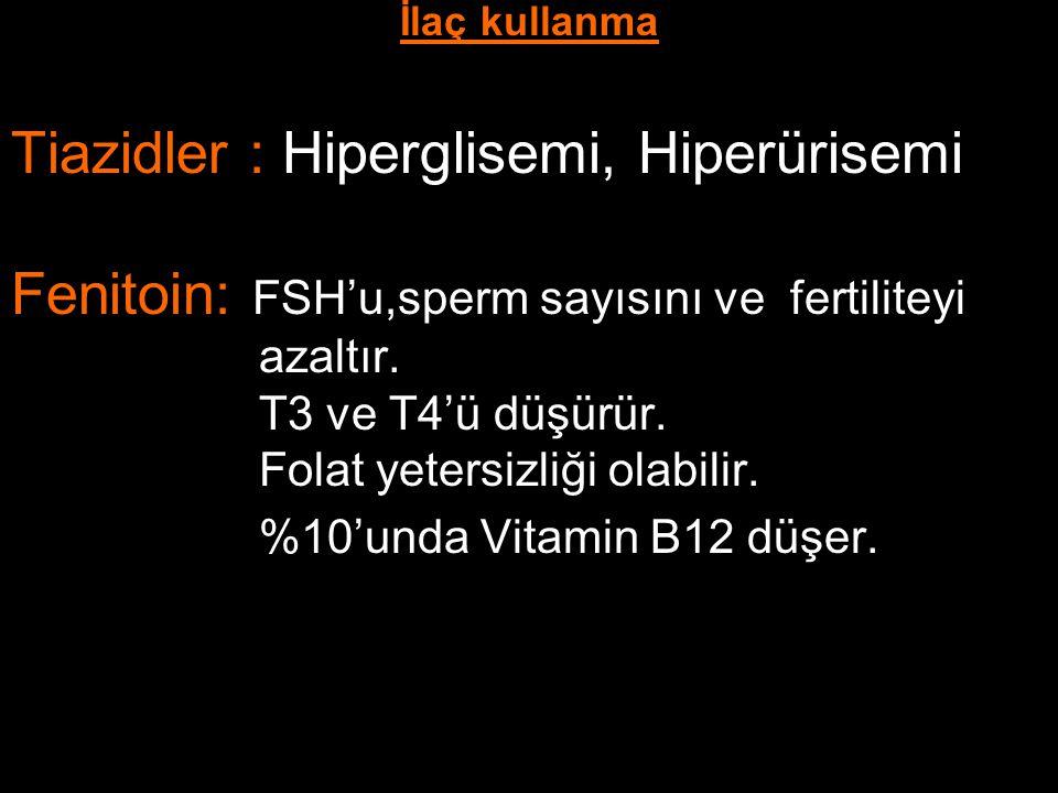 Tiazidler : Hiperglisemi, Hiperürisemi
