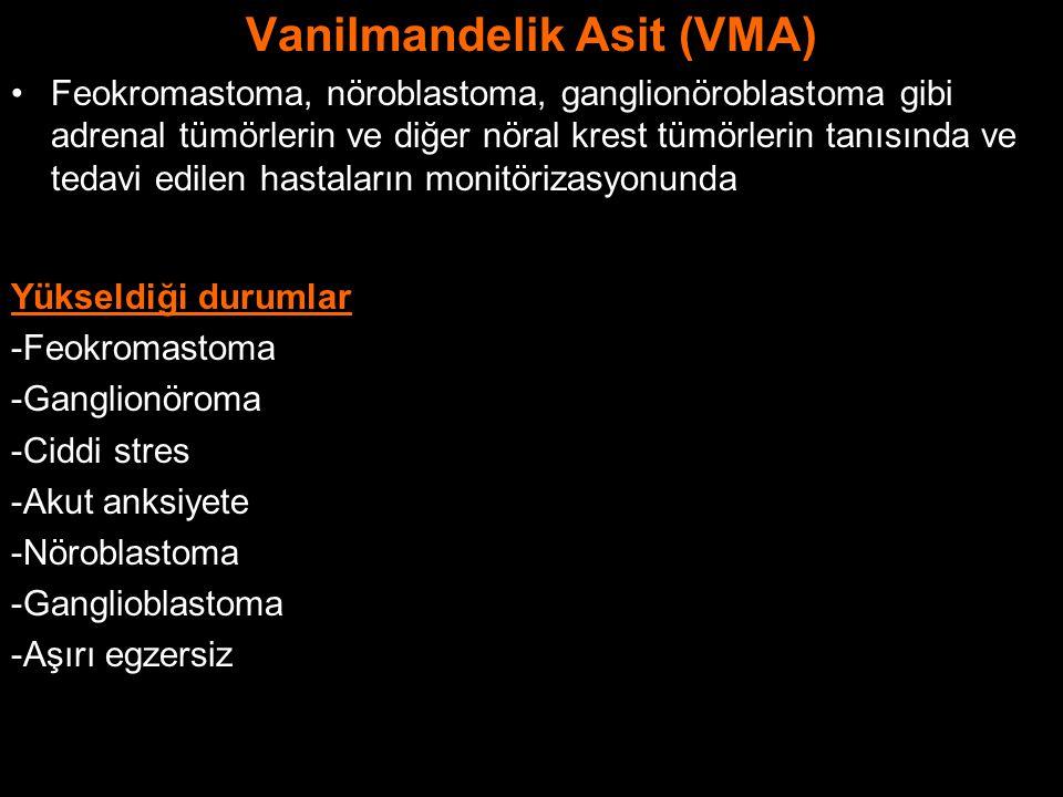 Vanilmandelik Asit (VMA)