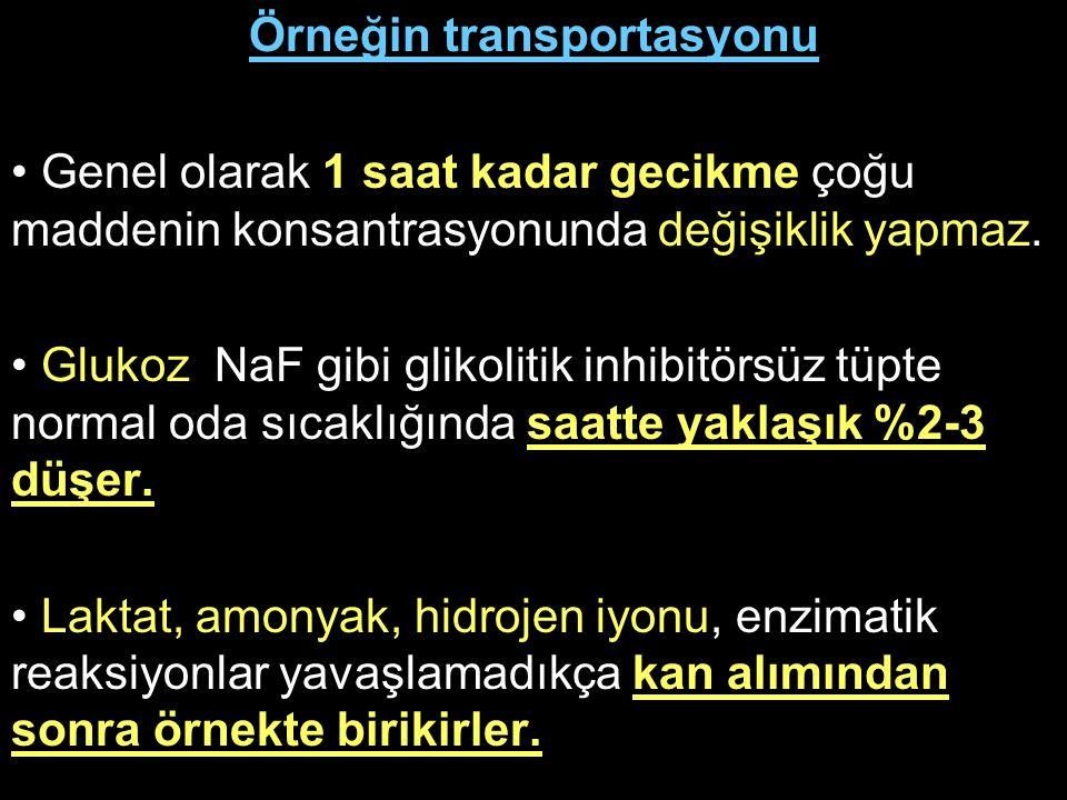 Örneğin transportasyonu