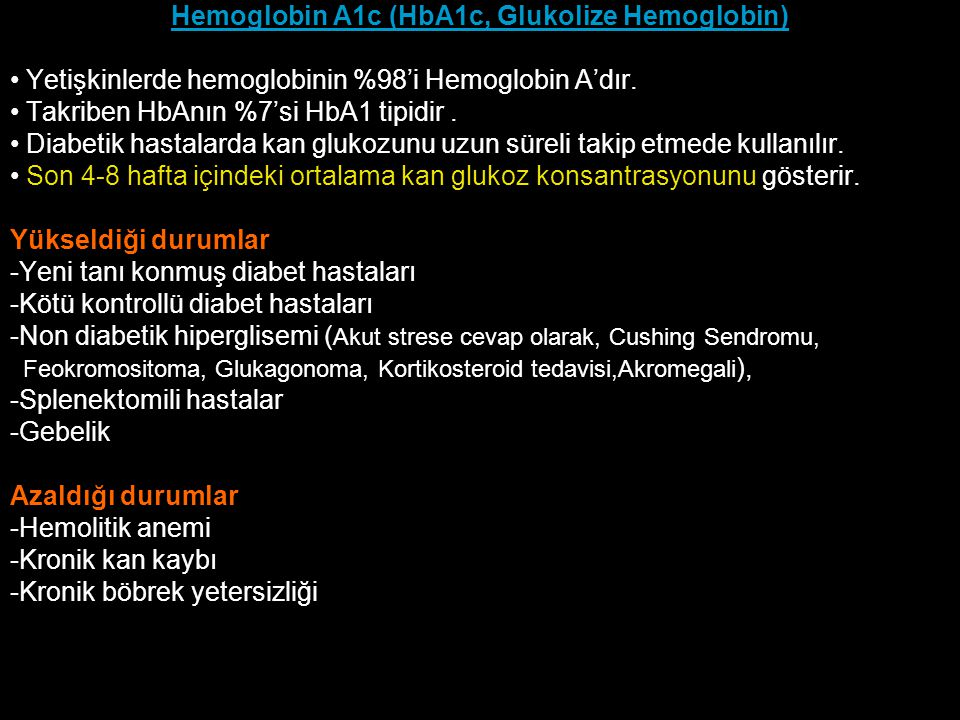 Hemoglobin A1c (HbA1c, Glukolize Hemoglobin)