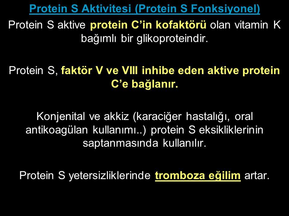 Protein S Aktivitesi (Protein S Fonksiyonel)