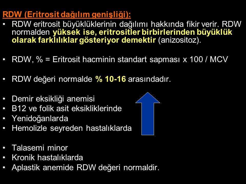 RDW (Eritrosit dağılım genişliği):