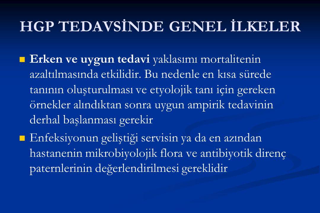 HGP TEDAVSİNDE GENEL İLKELER