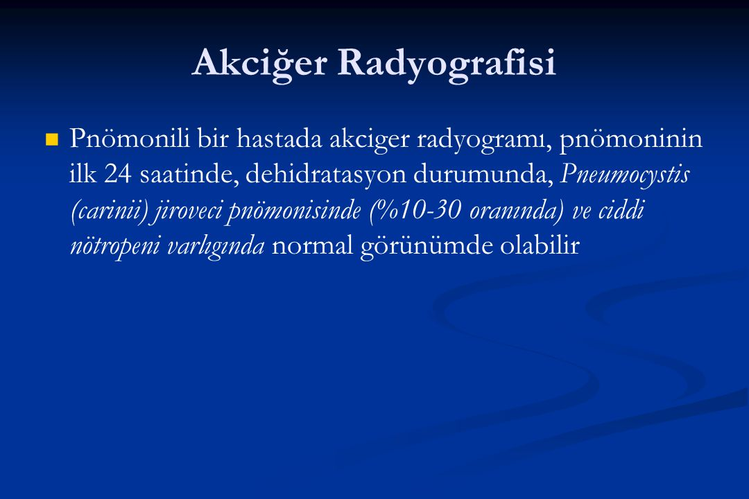 Akciğer Radyografisi
