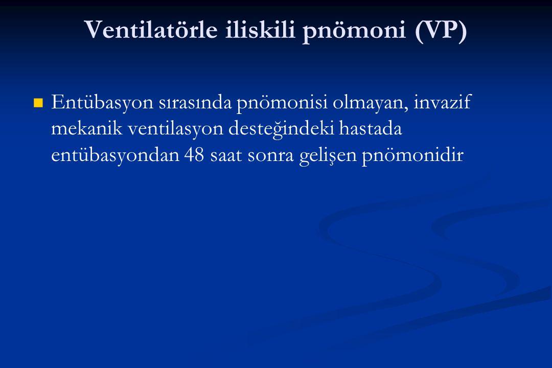 Ventilatörle iliskili pnömoni (VP)