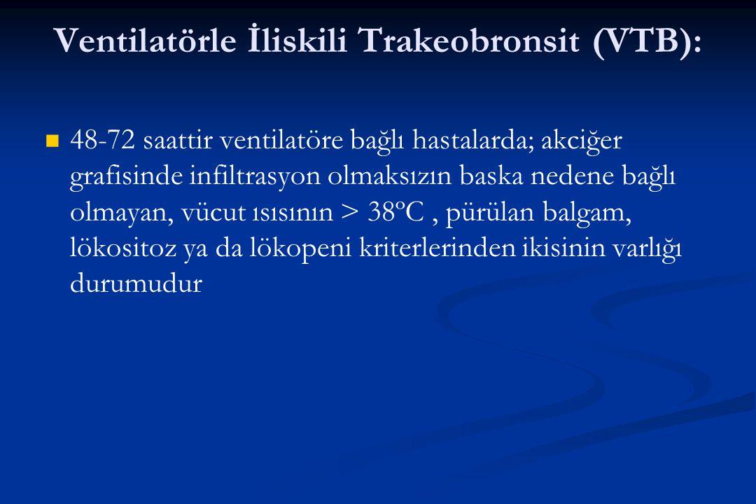 Ventilatörle İliskili Trakeobronsit (VTB):