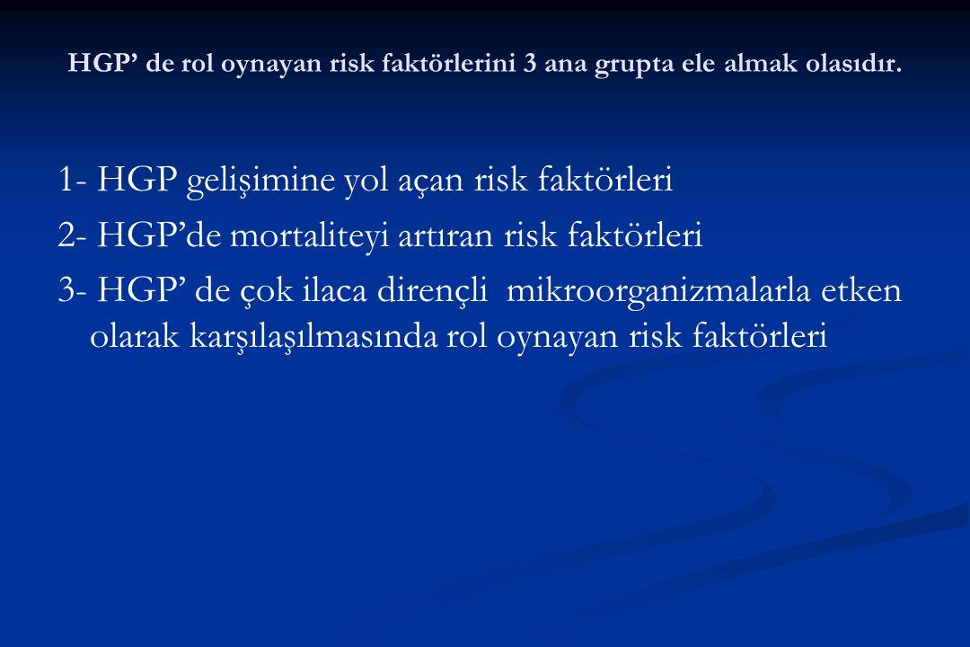 HGP' de rol oynayan risk faktörlerini 3 ana grupta ele almak olasıdır.