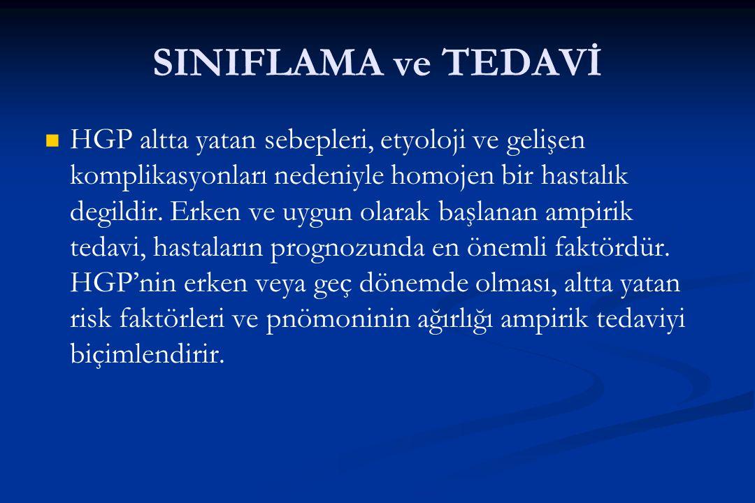 SINIFLAMA ve TEDAVİ