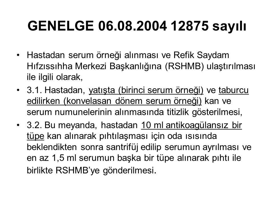 GENELGE 06.08.2004 12875 sayılı