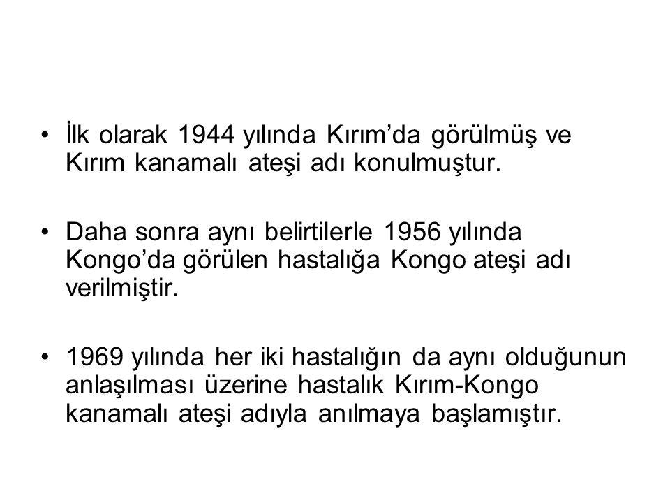 İlk olarak 1944 yılında Kırım'da görülmüş ve Kırım kanamalı ateşi adı konulmuştur.