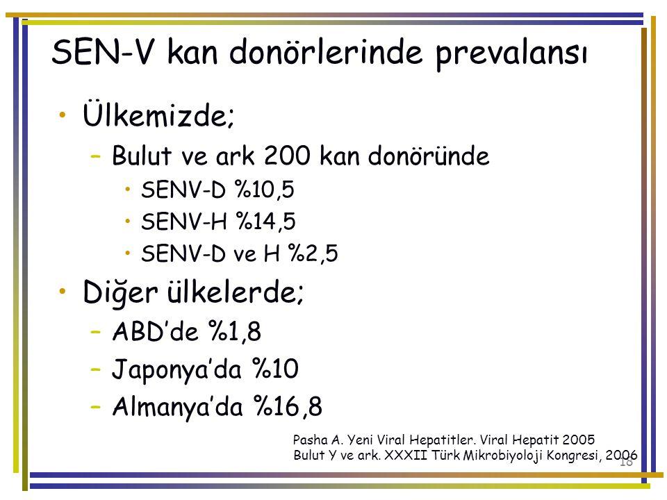 SEN-V kan donörlerinde prevalansı